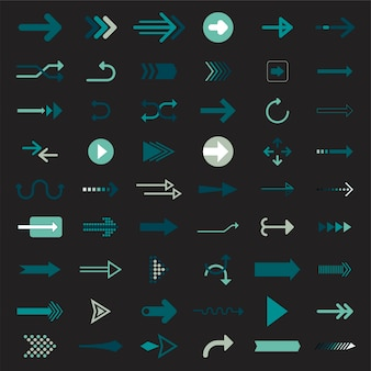 Sammlung von illustrierten pfeilzeichen