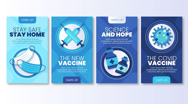 Sammlung von impfstoff-instagram-geschichten
