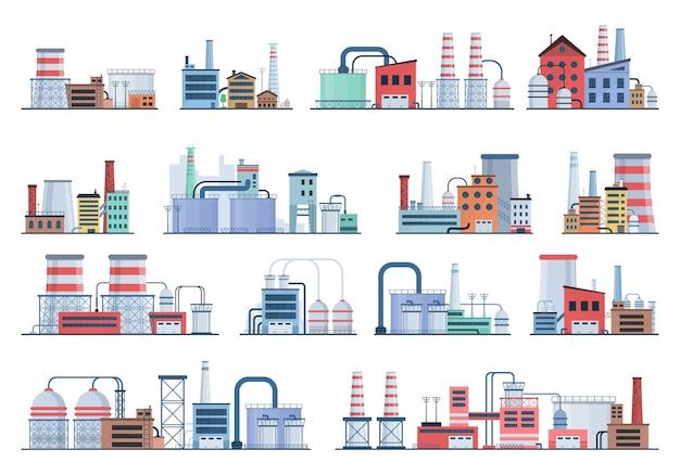 Sammlung von industriegebäuden