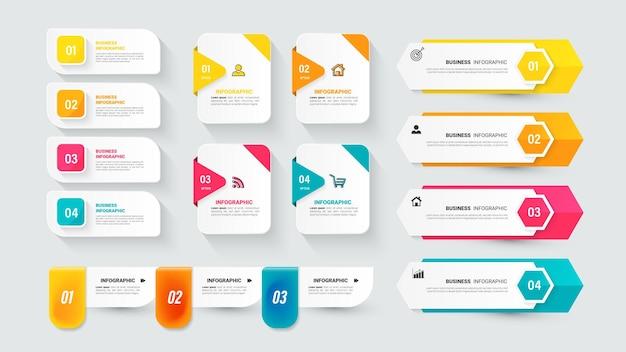 Sammlung von infografik-elementen für die präsentation