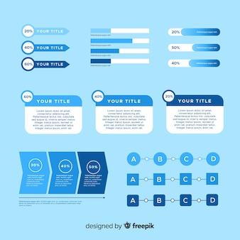 Sammlung von infografik-elementen