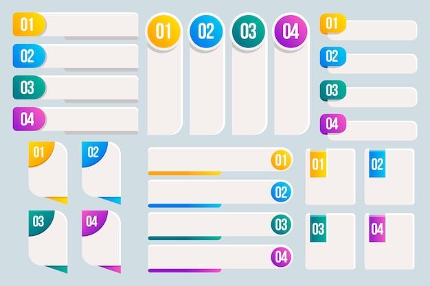 Sammlung von infografik-gestaltungselementen