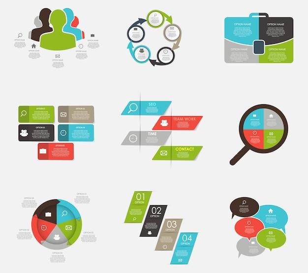 Sammlung von infografik-vorlagen illustra