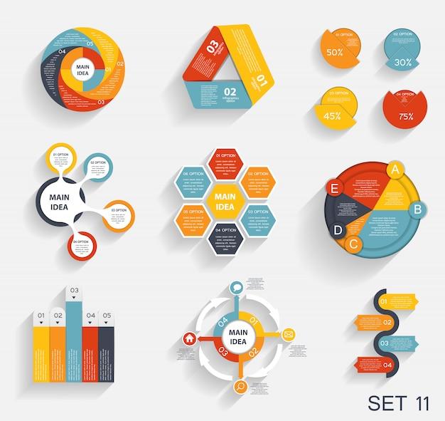 Sammlung von infografik-vorlagen