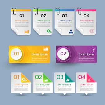 Sammlung von infographik designvorlage