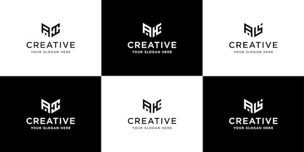 Sammlung von initialen logo design-vorlage