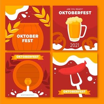 Sammlung von instagram-posts zum oktoberfest