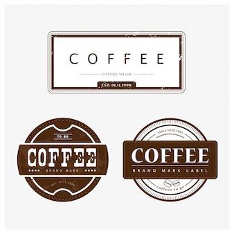 Sammlung von kaffee-logo Premium Vektoren