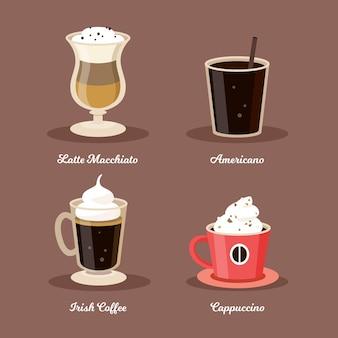 Sammlung von kaffeesorten