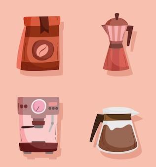 Sammlung von kaffeesymbolen
