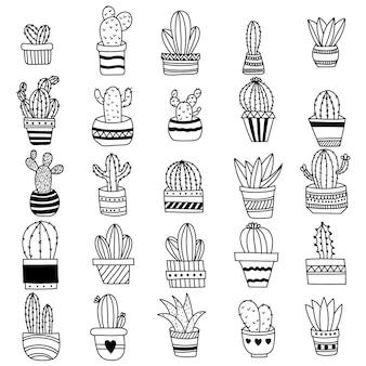 Sammlung von kaktuskritzeleien