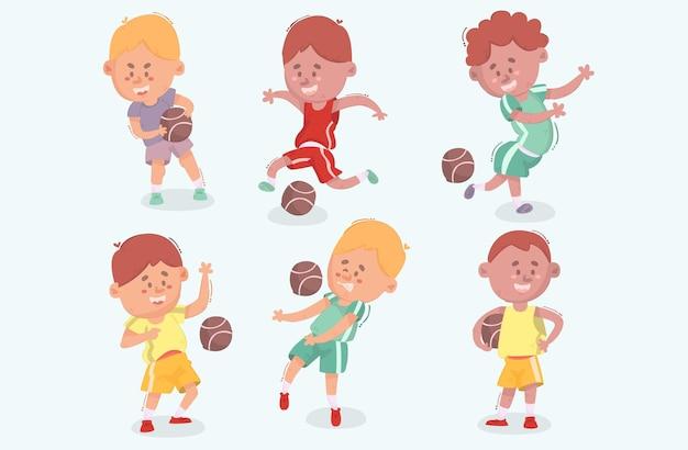 Sammlung von kids playing dodgeball