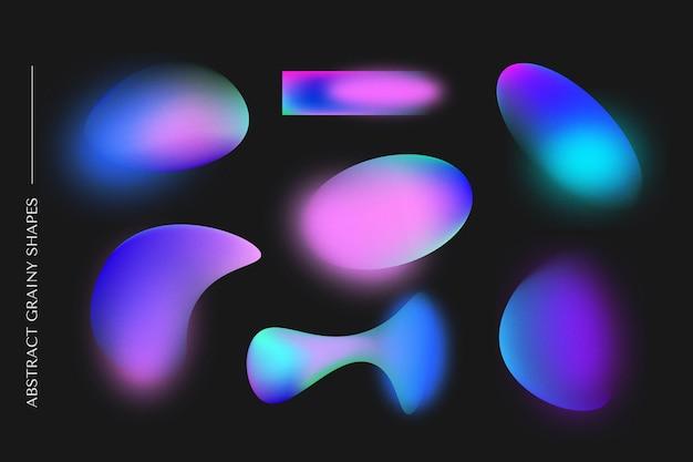 Sammlung von körnigen formen mit farbverlauf