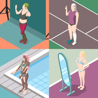 Sammlung von körperpositivitätsbewegungen