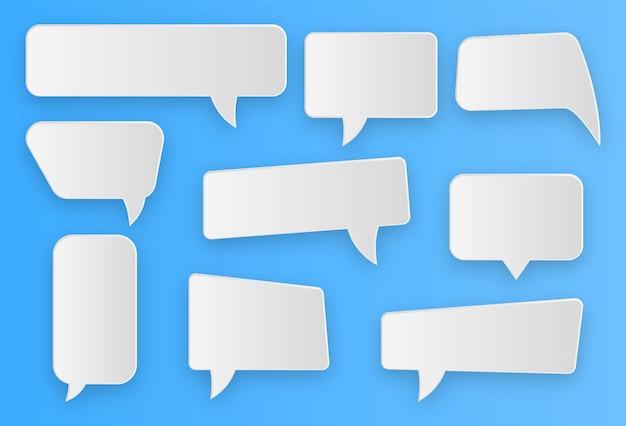 Sammlung von kommunikationssprechblasen