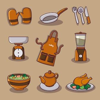 Sammlung von küchenwerkzeugen
