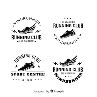 Sammlung von laufschuh-logos
