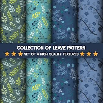 Sammlung von leave hochwertige texturen muster und nahtlos.