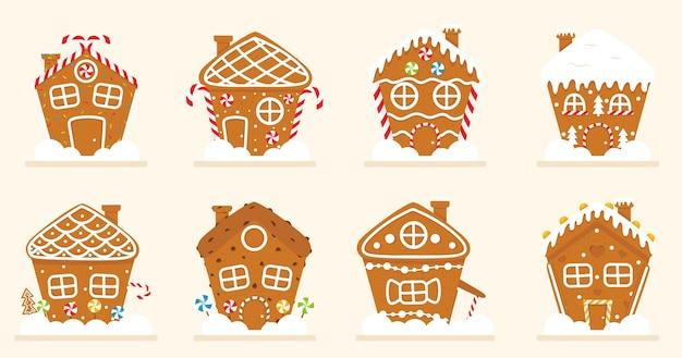 Sammlung von lebkuchenhaus