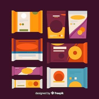 Sammlung von leckeren snacks