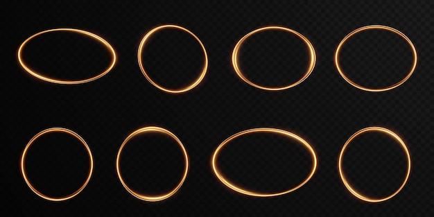 Sammlung von leichten geometrischen rahmen. set goldene festliche rahmen