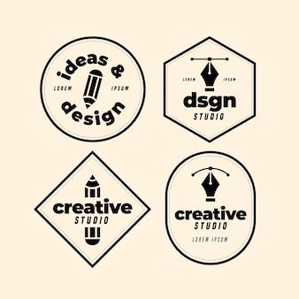 Sammlung von logo-vorlagen für grafikdesigner
