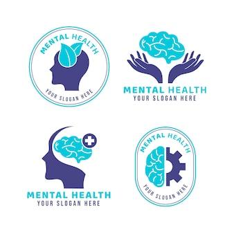 Sammlung von logos für psychische gesundheit