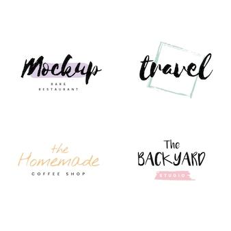 Sammlung von logos und branding