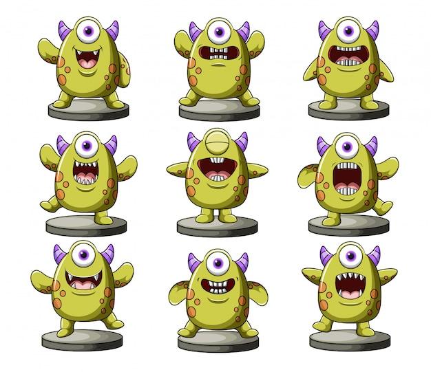 Sammlung von lustigen monstern