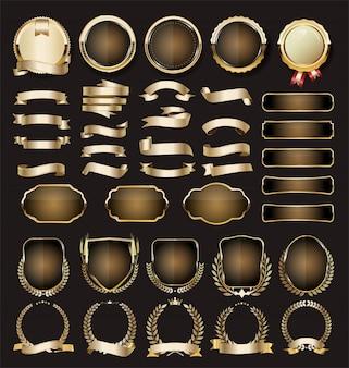 Sammlung von luxus golden