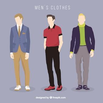 Sammlung von männerkleidung
