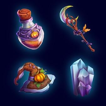 Sammlung von magischen spielsets