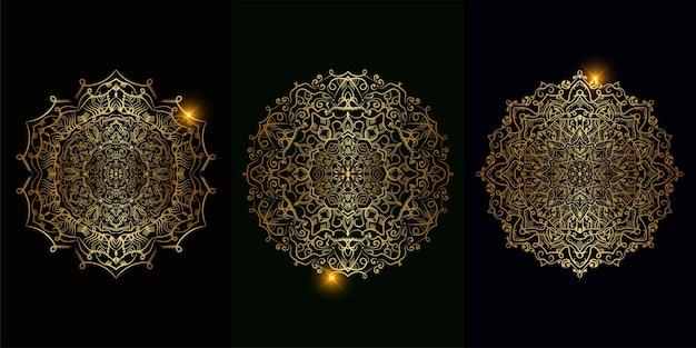 Sammlung von mandala-ornamenten