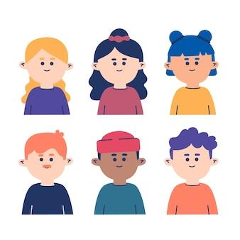 Sammlung von menschen avatare