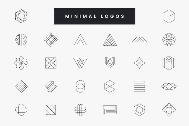 Sammlung von minimalem logo