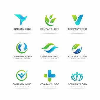 Sammlung von modernen logo-design-vorlagen