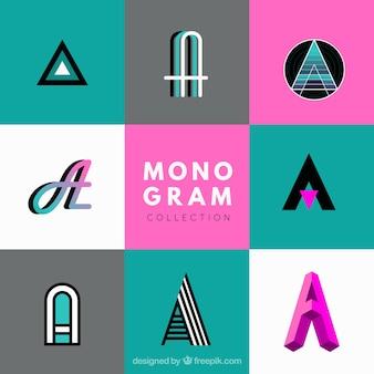 Sammlung von modernen monogramm