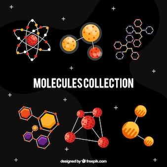 Sammlung von molekülen und strukturen