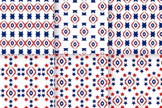 Sammlung von mustern für die usa-flagge