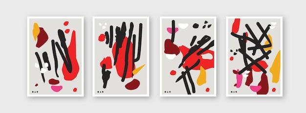 Sammlung von mustervorlagen für branding-cover-design-layout-bundle-poster