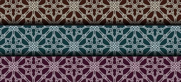 Sammlung von nahtlosen dekorativen ethnischen mustern