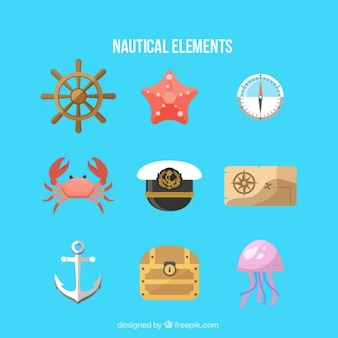 Sammlung von nautischen zubehör