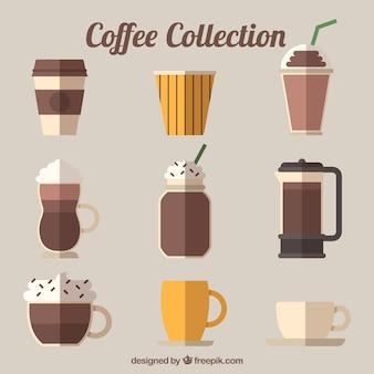 Sammlung von neun verschiedenen kaffeesorten
