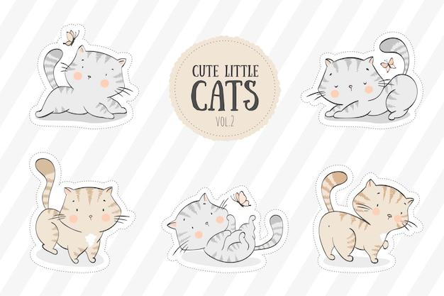 Sammlung von niedlichen kätzchen
