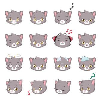 Sammlung von niedlichen katzen