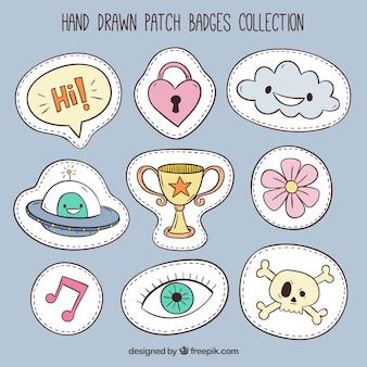 Sammlung von niedlichen patches