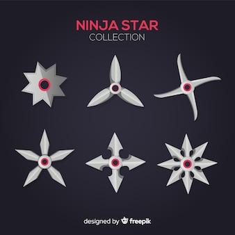 Sammlung von ninja-sternen
