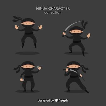 Sammlung von ninja-zeichen