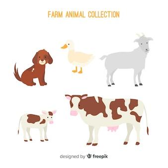 Sammlung von nutztieren