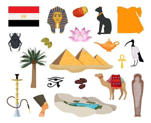 Sammlung von objekten aus ägypten